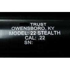 Suppressor Tube Engraving